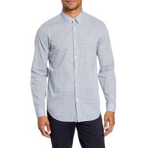 Theory Men's Irving Ghost Plaid Button-Up Shirt